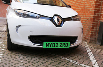 Green number plates considered for electric cars